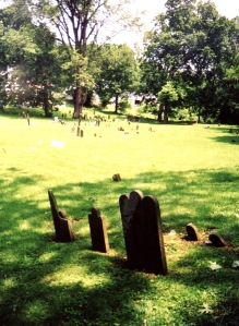 Gravestones of the first three Williamson children in Ripley, Ohio. William died at the age of 22 months in 1830 and Mary and James both died of scarlet fever in January 1833. Mary was almost three years old and James was not yet a year old.
