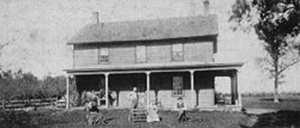 Herman expanded the family home in 1867. The family gathered for this photo many years later.