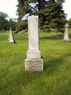 The Gibbs family monument marks several Gibbs graves in Hillside Cemetery in Minneapolis, Minnesota.