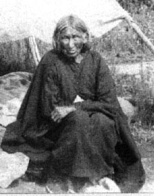Catherine Tatidutawin was the first Dakota woman baptized ino Christianity at the Lac Qui Parle Mission in 1837. She is pictured here perhaps 50 years later. (Photo Courtesy Marlin Peterson)