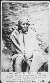 Samuel Pond Jr. wrote that Chief Shakpe was a man of marked ability in council and one of the ablest and most effective orators in the Dakota Nation. There are many stories about his encounters with the Ponds at Shakopee. The chief, the last one of the name, escaped to Canada after the 1862 war but was captured and executed at Fort Snelling in November 1865.