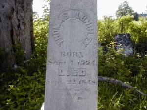 Mary's father is buried in the Doane Cemetery in Hadley, Massachusetts. It took more than five months for Mary to receive word of his passing.