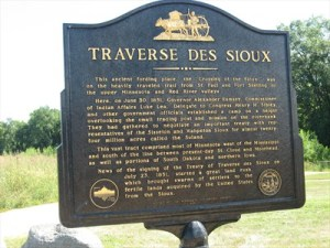 Nothing remains today of the original mission buildings at Traverse des Sioux. The village was eventually absorbed into the current City of St. Peter, Minnesota. The Green Lawn Cemetery, also known as the Traverse Cemetery or the Old Settler Cemetery still exists as does the marker commemorating the site of the 1851 treaty. The Nicollet County Historical Society operates an interpretative center at the site. Signage along the walking trail that begins at the center describes the history of the site. It is believed that Thomas Longley's grave was located near the center and that his body was moved to the old cemetery at some point.