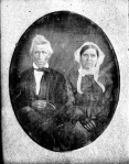 This unidentified photo is in the Huggins digitized collection of the Minnesota Historical Society. I believe it is quite possibly Stephen Riggs and his second wife, Annie Baker Ackley, who was 23 years younger than Stephen.
