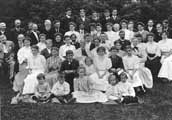 Generations of Pond descendants gathered at the Mission site for a reunion in about 1910.