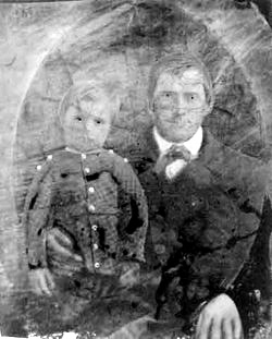 William Johnson Hopkins was about five years old when this photograph was taken with his father Robert in 1850.
