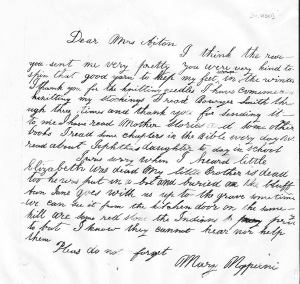 Mary Napexni Letter