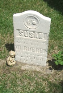 In 1846, Jane Williamson became guardian of a little Dakota girl whom she named Susan Rainbow or Susan Ellison. The child was murdered by a roving band of Ojibwe in Bloomington, Minnesota in 1856. This photo is of her grave in the Bloomington Cemetery.