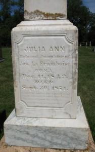 Julia LaFramboise tombstone